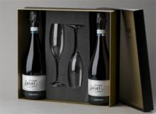 Gift pack two bottles of Sensum Laxas and two marked flutes